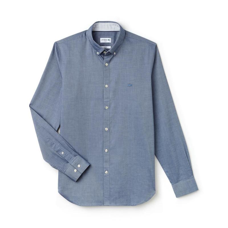 online store 7913d c9b3d Camicia Uomo Lacoste Stretch Blu Jeans CH9627.PQ5