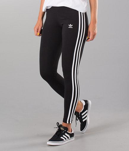 Leggings Donna Adidas 3 Stripes Nero CE2441