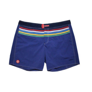 Costume Short Colmar Uomo Stretch Perfit Blu Con Righe Colorate 7298.9MO.66