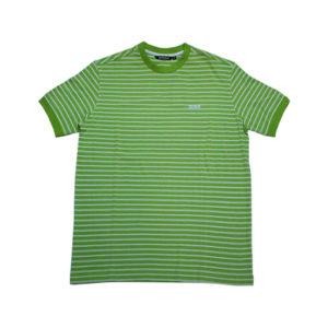 T-Shirt Uomo Colmar In Cotone Verde A Righe Bianche 7541.9KD.03