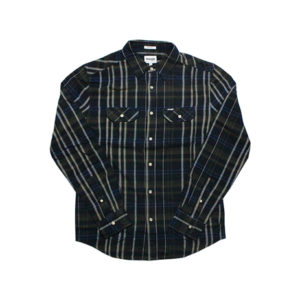 Camicia Wrangler Uomo Reguler Verde Oliva/Blu/Beige W5982T245